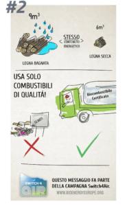 Migliora la qualità dell'aria - USA SOLO COMBUSTIBILI DI QUALITA
